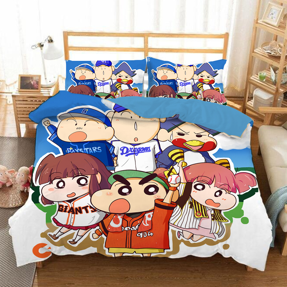 Crayon Shinchan 3D Bedding Set  Duvet Covers Pillowcases Anime Crayon Shinchan Comforter Bedding Sets Bedclothes Bed Linen