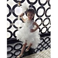 Girl white dress cake dress wedding dress flower girl dress cute poncho dress birthday dress