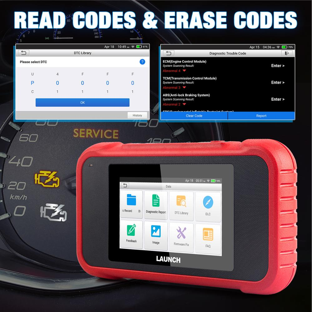 Image 4 - New arrival LAUNCH X431 CRP123E OBD2 Code Reader For Engine ABS Airbag SRS Transmission OBD diagnostic tool CRP123 E Free Update-in Code Readers & Scan Tools from Automobiles & Motorcycles on
