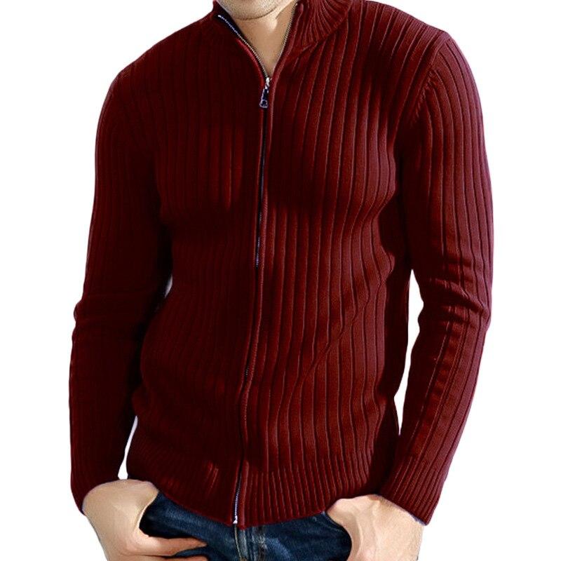 Zipper Pullover Sweaters Knitwear Men An Plus-Size Casual Fashion Cotton Warm