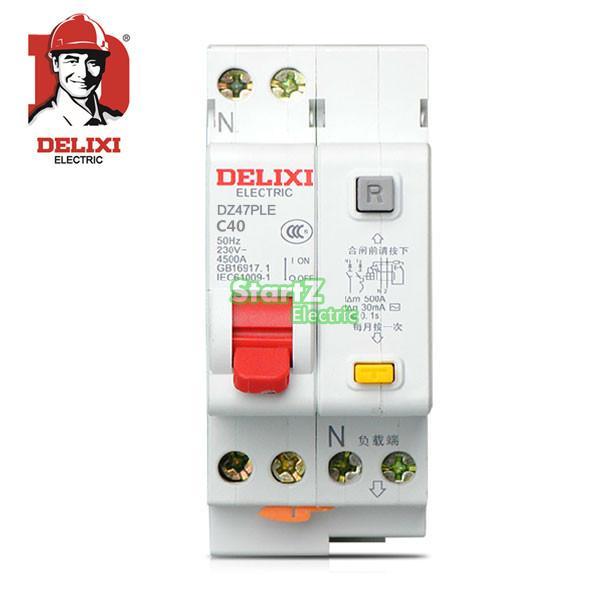 40A 1P+N DPNL RCBO Circuit Breaker DE47LE DELIXI 63a 3 p 3 p n rcbo rcd выключателя de47le delxi