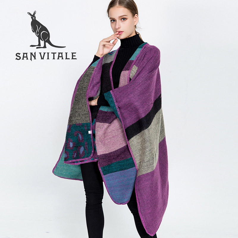 Scarves Women's Scarf Winter Warm Christmas Clothes Classic Style Shawl Pashmina Luxury Brand Cashmere Plaid Stole for Dress