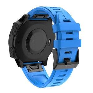 Image 5 - ساعة يد من Garmin Fenix 5 مصنوعة من السيليكون مزودة بشريط لغريزة Garmin حزام بديل للمعصم
