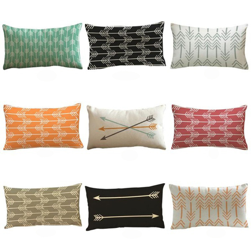 Arrow Printed Pillowcases 30 50cm Hotel Bedding Decorative