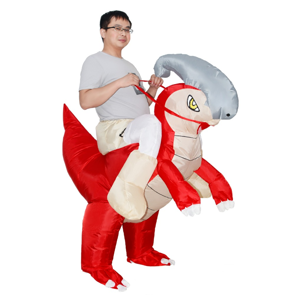 Parasaurolophus T-REX Inflatable Dinosaur Costume Party Costume Women Halloween Costumes for Men Adults Animal Cosplay Costume