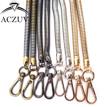 10piece 6.5mm Thick 120cm Snake Chain Double Claw Clasps Lobster Buckle Hooks Long Shoulder Bag Purse Chain Findings Accessories
