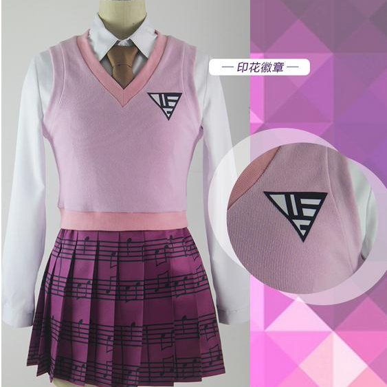 Customize Anime Danganronpa V3 Figure Akamatsu Kaede JK Uniform Full Set Cosplay Costume New 2017