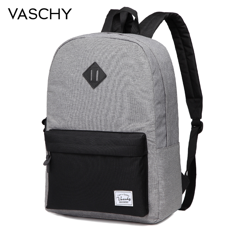 7af745f16b07 US $29.89 45% OFF|VASCHY Fashion Laptop Backpack School Bags Backpack  College High School Travel Bag Bookbag Women Backpack Unisex-in Backpacks  from ...