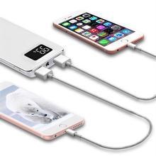 Оригинальный блок питания 20000 мАч для Xiaomi Mi 2 USB запасные аккумуляторы телефонов Портативный зарядное устройство Внешний батарея повербанк iPhone 7 6 5 4X8 XS