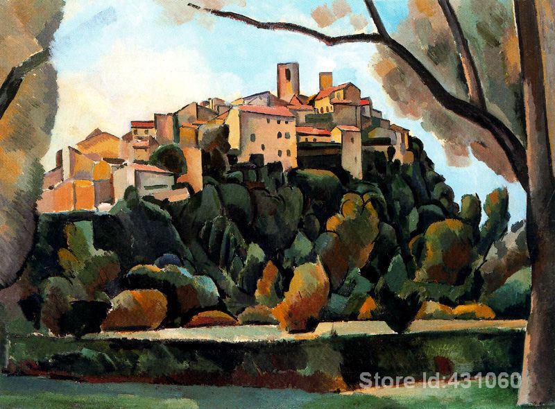 Abstract art Landscape Vista de Saint Paul de Vence Andre