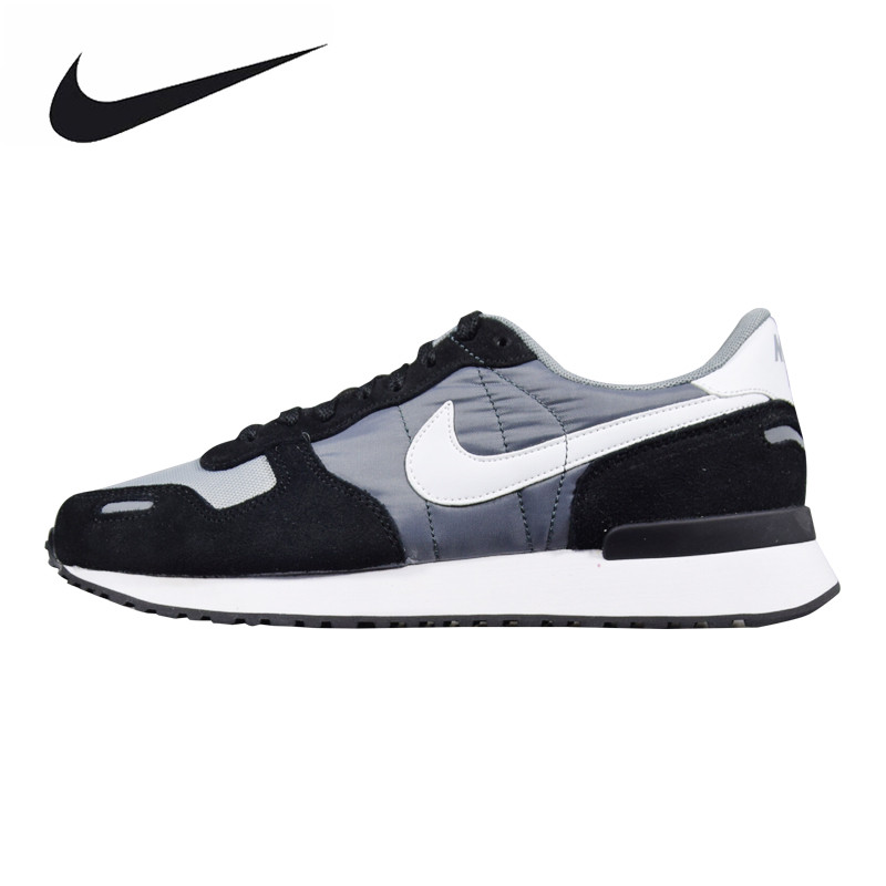 Nike AIR VRTX Men's Running Shoes, Outdoor Sneakers Shoes, Black & Gray, Breathable Wearable Non-slip Lightweight 903896 001 mulinsen men s running shoes blue black red gray outdoor running sport shoes breathable non slip sport sneakers 270233