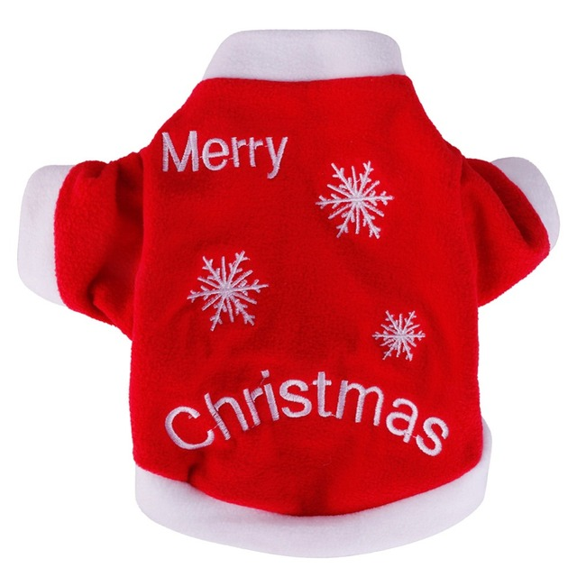 Merry Christmas Pet Cat Xmas Gift Puppy Clothes Winter Warm Pullover ...