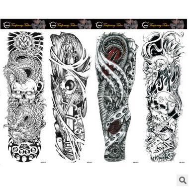4 Unids Lote Completo Tatuaje Flores Brazo Tatuaje Pegatinas De