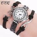 CCQ Brand Fashion Casual Women Leather Bracelet Wristwatch Creative Infinite Love Watches Drop Shipping Relogio Feminino 2030