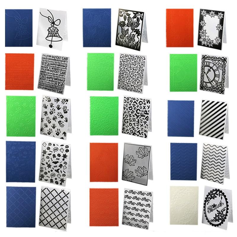 Paper Card Scrapbooking Plastic Template Fondant Cake Photo Album Wedding Decor Embossing Folder Craft Card Making