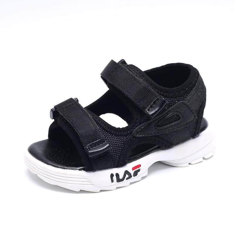 084318baab6ed ブランド夏ボーイズ gilrs 靴新 2019 子供サンダルクローズド足の子供用の靴幼児の少年ソフトファッションスクール靴 - AliExpress
