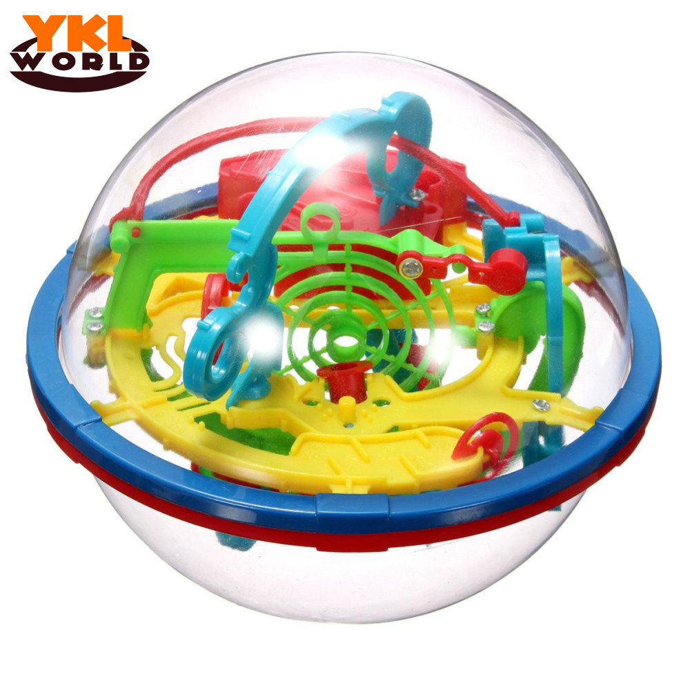 YKLWorld Newest Fun 3D Maze Ball Intellect Magic Ball Children Kid Educational Toys Baby Puzzle Games Toy (random color) (S8