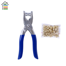New DIY Grommet Eyelet Pliers Shoes Eyes Clamp With about 100 Eyelets For Fabric,Paper,Bags