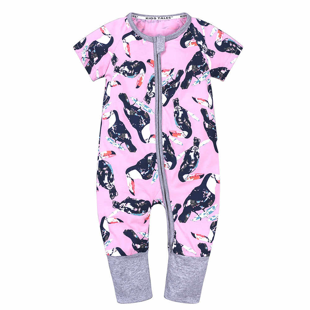 Коллекция 2019 года, летняя одежда для новорожденных мальчиков и девочек Комбинезон для малышей с мультяшным принтом, комбинезон для малышей, комбинезон для детей возрастом от 0 до 24 месяцев, Одежда для младенцев