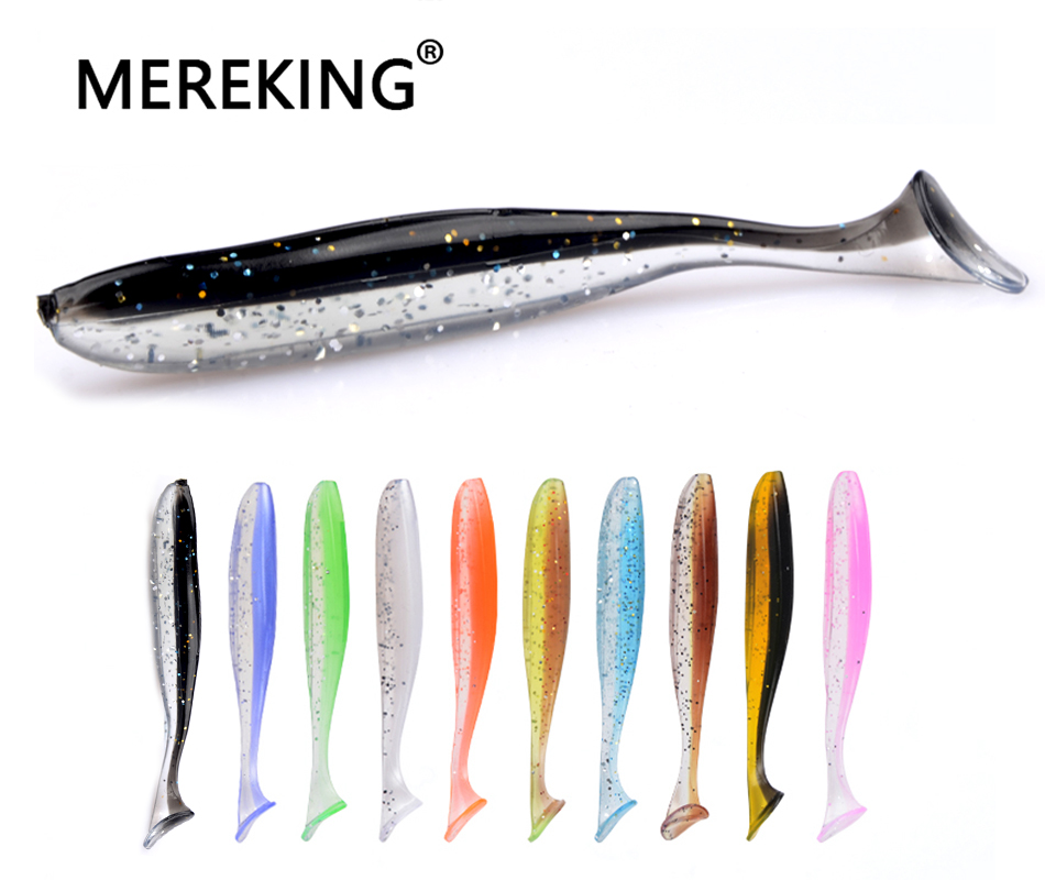 MEREKING Easy Shiner Artificial Soft Baits 5cm 7.5cm 10cm 13cm Fishing Lures Fishing Paddle Tail T Tail Wobblers Bass Trout Pike 32pcs set assorted nymph fishing fly combo trout bass blue gill panfish artificial lures with free double faced waterproof tac