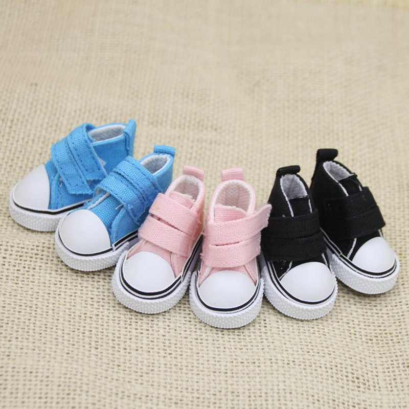 1 Pair 5cm Canvas Shoes For Doll Fashion Mini Toy Shoes Sneaker Doll Shoes Toys For Children
