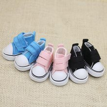 1 Pair 5cm Canvas Shoes For Doll Fashion Mini Toy Shoes Sneaker Doll Shoes Toys For Children(China)