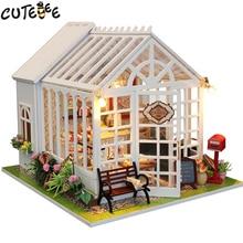 christmas decor diy doll house wooden doll houses miniature dollhouse furniture kit toys for children gift