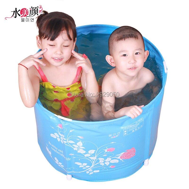 Pas infiating baignoire bébé pliante Portable enfant tubcoussin Protection sécurité bébé bain petit plastique bébé piscine