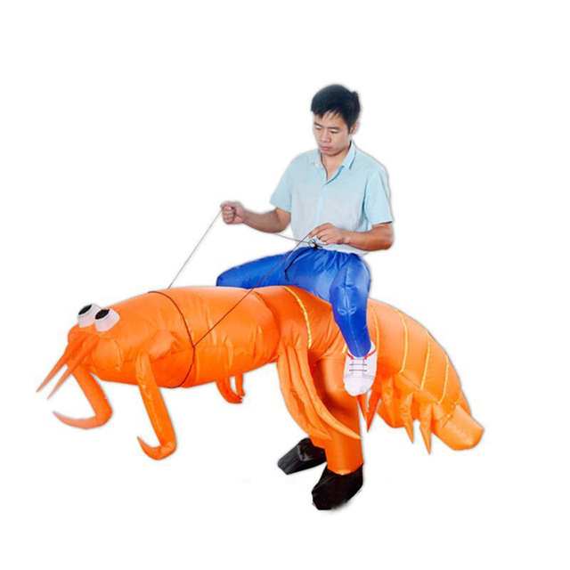 Funny Ride Inflatable Costumes Halloween Pipi Shrimp Let's Go 2017 Newest Anime Cosplay Costume For Adults Women Men