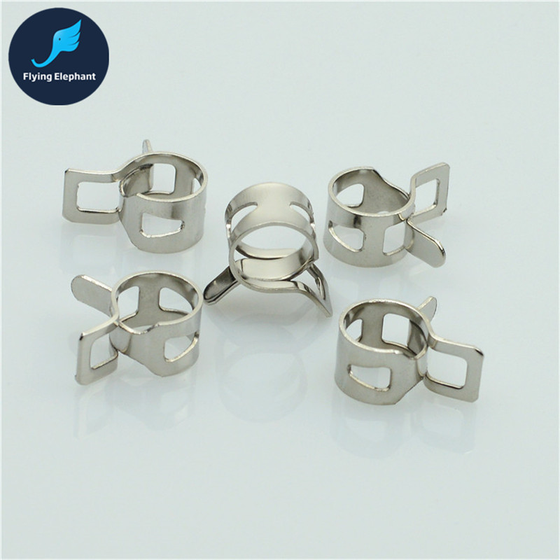 2 Pieces Computer Water Cooling 3/8'' 1/4 Silver Thin Elasticity Pipe Clamp 9.5*12.7mm 8*12mm Tubing Clip For OD 12.7-15mm Tube nsi industries glc 440db heavy duty direct burial ground clamp with lay in 2 1 2 4 water pipe size 8 stranded 4 0 stranded ground wire range pack of 3