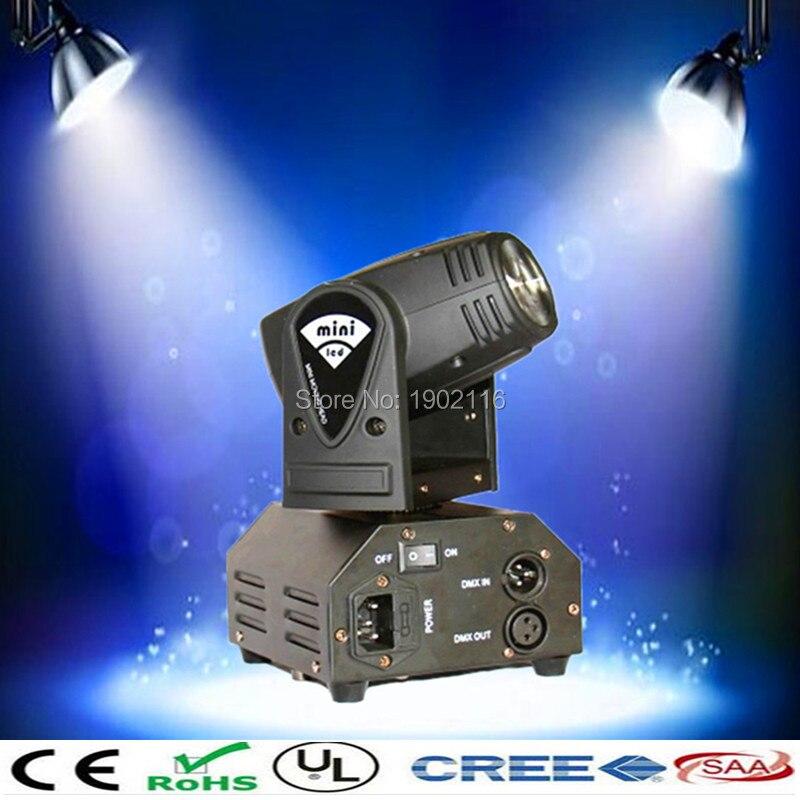 ФОТО Free shipping high brightness 10W LED moving head/RGBW mini 10w led beam light /dmx stage lighting/led wash lamp/dj equipment