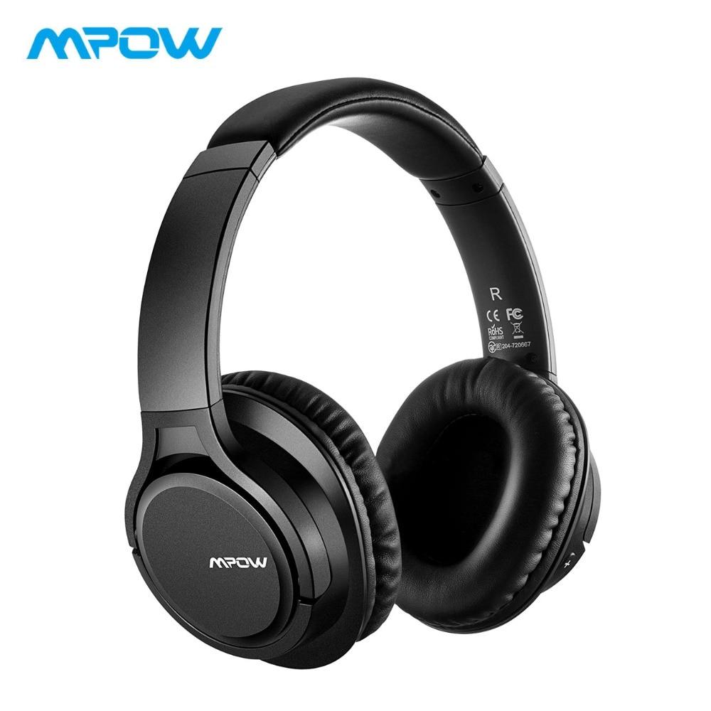 Mpow H7 Tamanho Grande Sobre fone de Ouvido Bluetooth Fone De Ouvido de Alta Fidelidade Fones De Ouvido Estéreo Com Cancelamento de Ruído Com Mic & Bolsa de Transporte Para o iphone /iPad