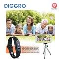 Diggro e06 inteligente saudável pulseira à prova d' água bluetooth 4.0 pulseira pedômetro monitor de sono rastreador de calorias para o android e ios