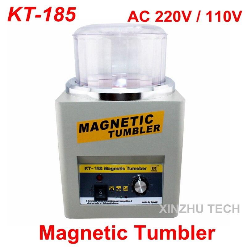 Di alta Qualità KT-185 Tumbler Magnetico Monili Tumbler Lucidatore di Finitura Finitura Macchina 110 V/220 V Velocità 2000 rpm