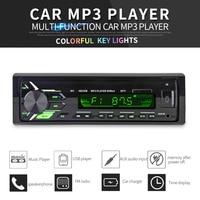 New FM vehicle stereo Car Radio 12V Bluetooth V3.0 Panel Auto Audio Stereo FM radio SD MP3 Player AUX USB Hands free Call