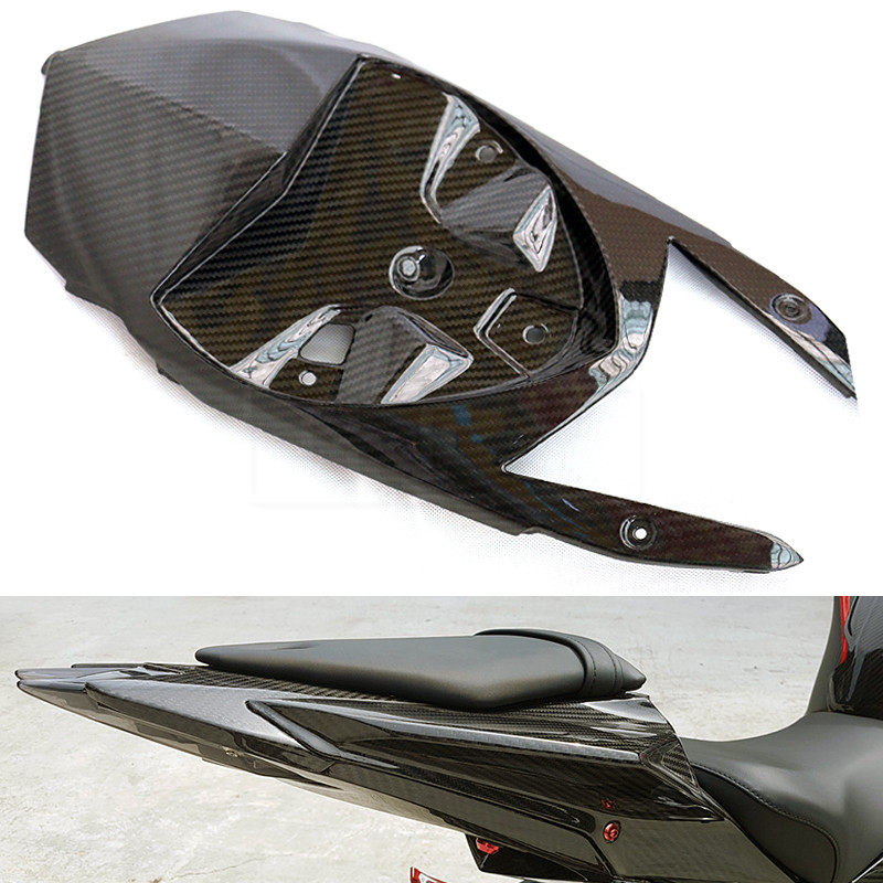 Motorcycle Carbon Fiber Under Tail Rear Seat Moto Fairing Protection Accessories Cowl Cover For BMW S1000RR 2015 - 2017 S 1000RR yandex w205 amg style carbon fiber rear spoiler for benz w205 c200 c250 c300 c350 4door 2015 2016 2017