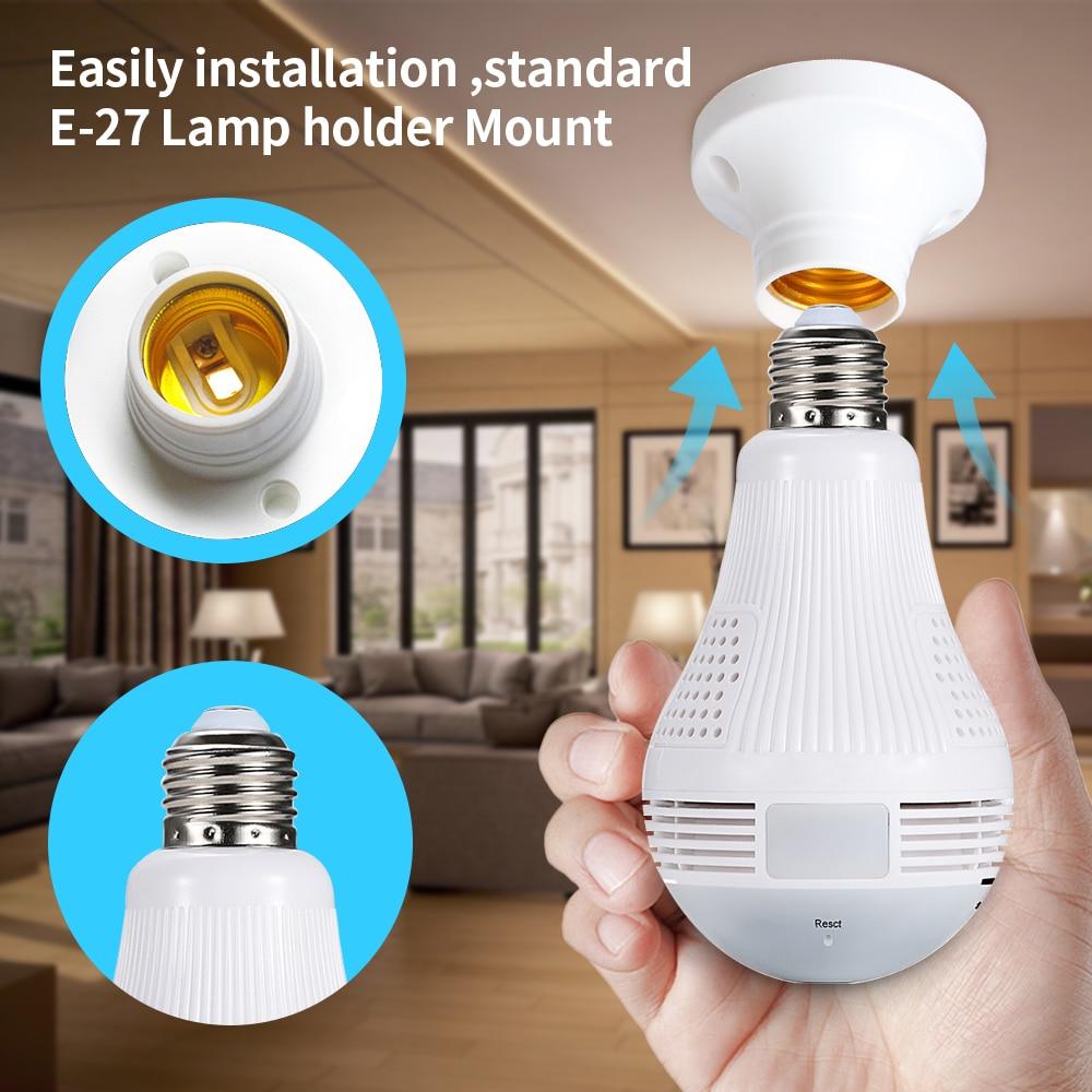 Loosafe 960P 360 Лампа бяспекі Wi-Fi камеры - Бяспека і абарона - Фота 4