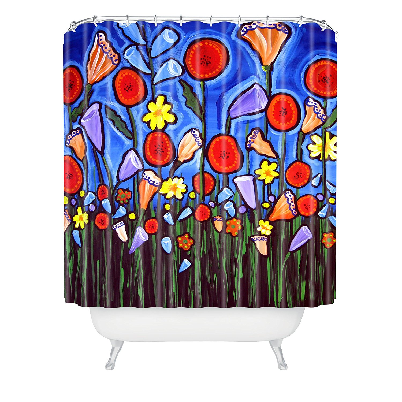 renie fun funky flowers shower curtain 69 x 72china mainland