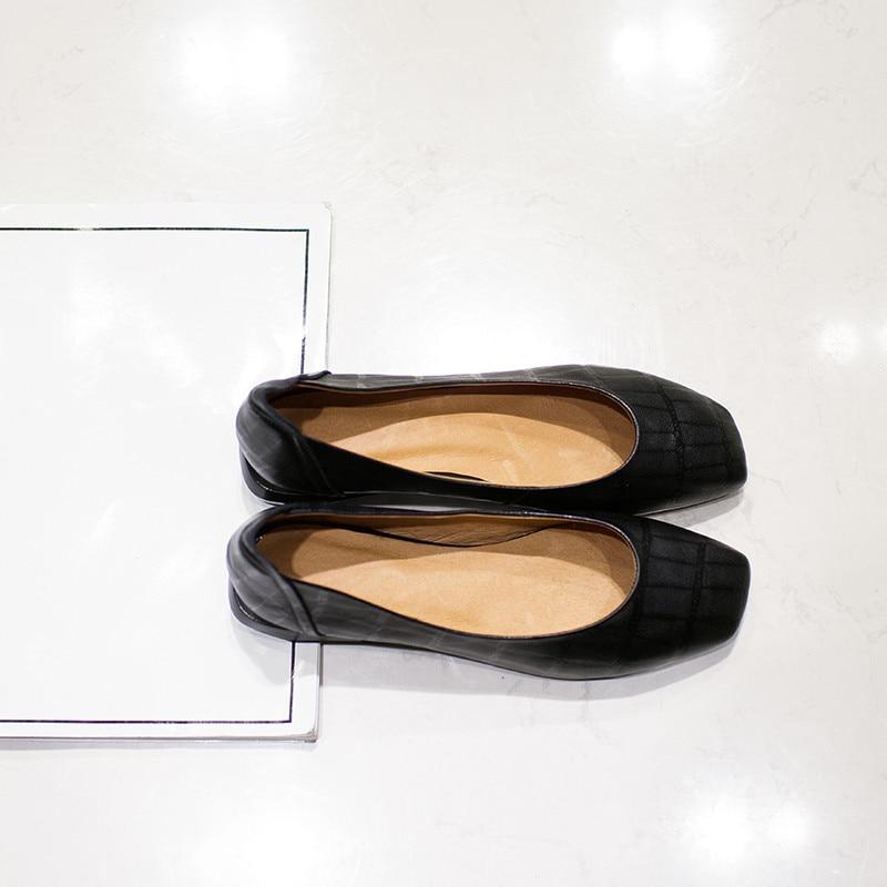 Slip Plus Motif Véritable Designer En Couleur Nouvelles Pierre Femmes Appartements Black Cuir Chaussures Taille Marque Printemps Bout brown Confort La on De Carré Gradient qSHwSXY