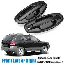 8265026000 82650-26000 Front Left /Right Car Exterior Door Handle Black for Hyundai Santa Fe 2001 2002 2003 2004 2005 2006