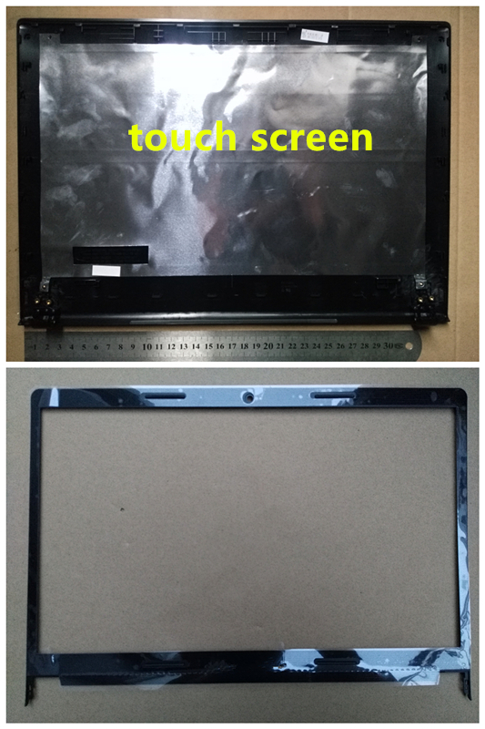 New Laptop Top Case Lcd Back Cover & Lcd Front Bezel Cover For Lenovo S410 S410P Part Number 41.4L101.001 Touch Screen