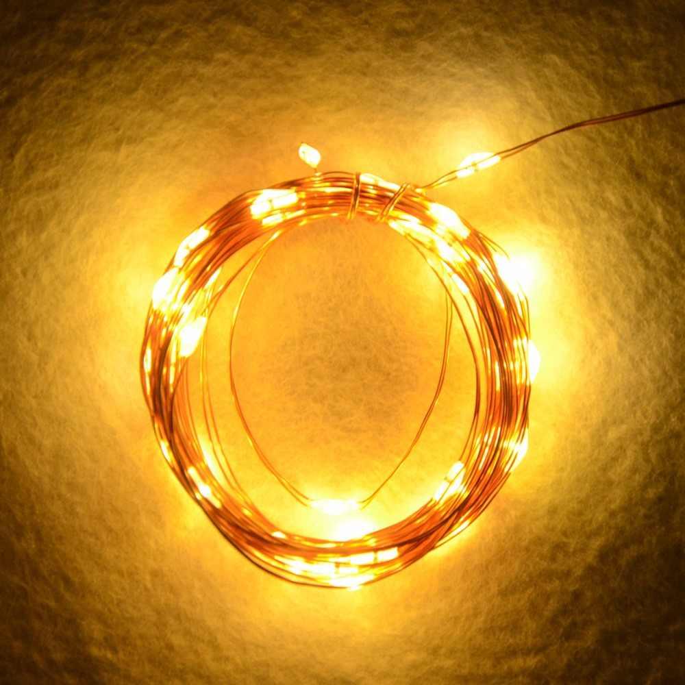 10 м светодиодный солнечный гирлянда из лампочек наружная газонная лампа медная проволочная Панель Светодиодная лента Праздничная Свадебная вечеринка Сад Рождество 100 светодиодный s
