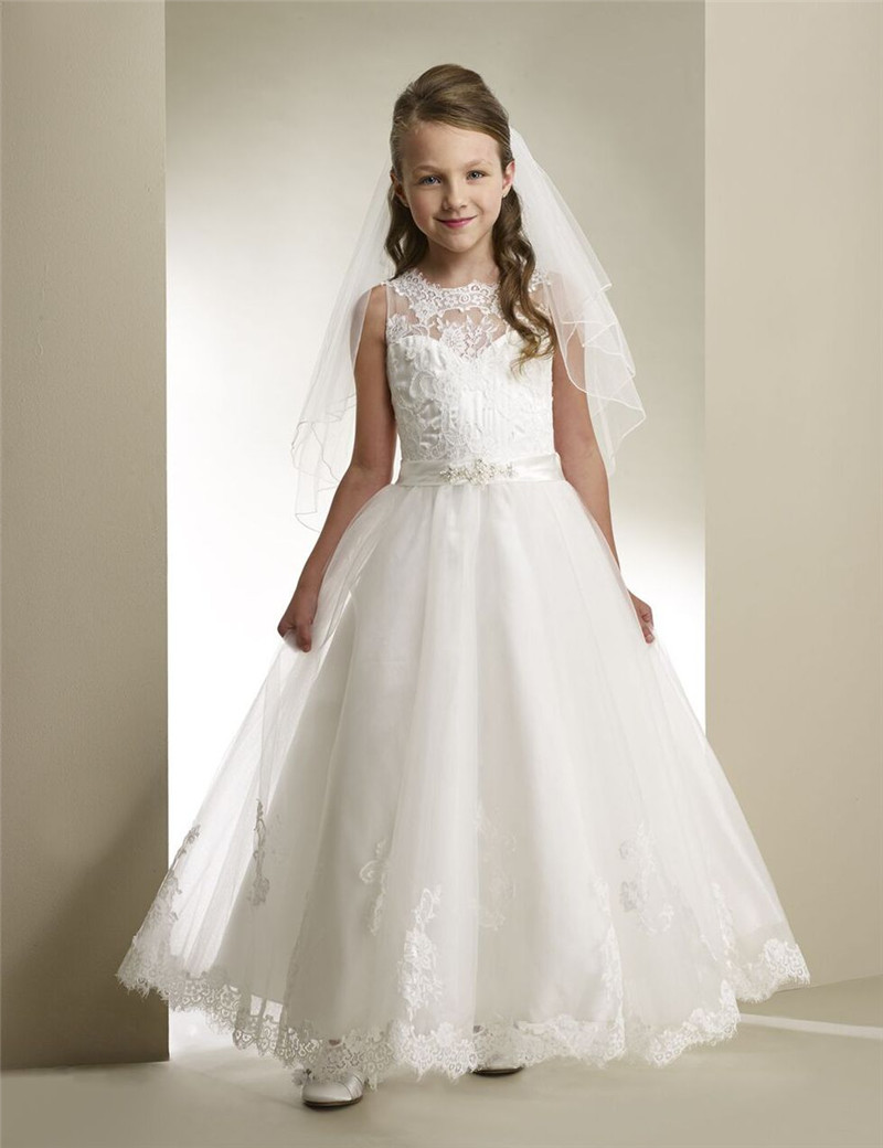 vestidos de comunion 2017 white first holy lace communion