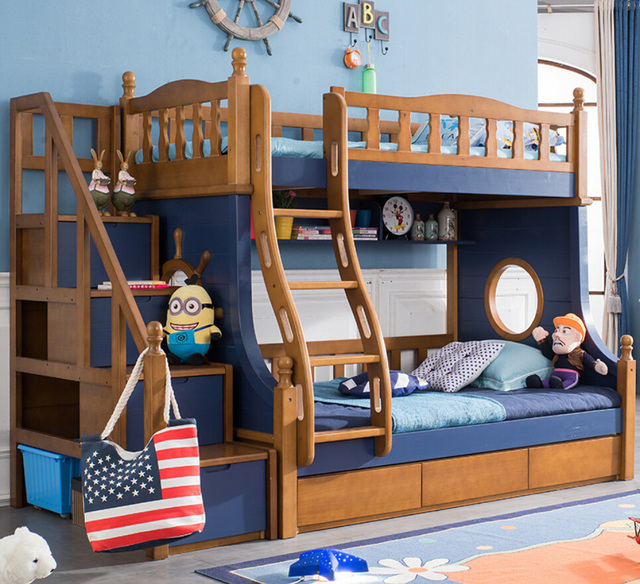 Webetop Nautical Style Kids Composite Bed Bedroom Furniture Set Kid ...