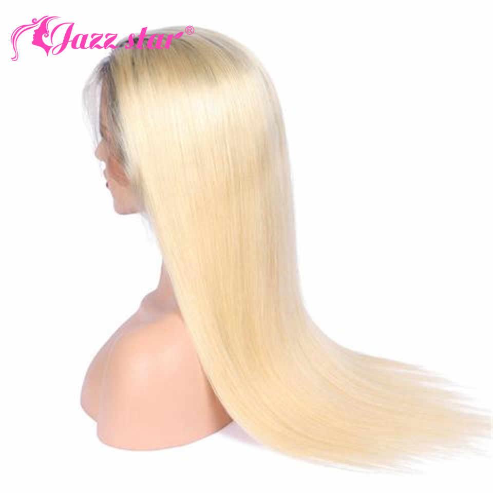 1b/613 человеческие волосы синтетические на кружеве Искусственные парики предварительно сорвал бразильский прямой Ombre светловолосый парик Jazz Star NonRemy 13X4