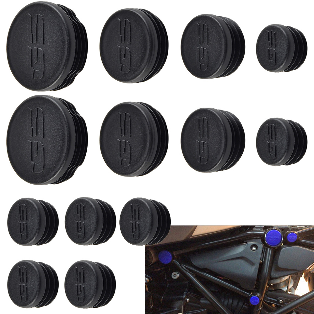 NICECNC Plastic 13PCS Frame Caps Set Frame Hole Cover Plug For BMW R1200GS LC R 1200GS R 1200 GS Adventure 2013 2014 2015 2016-in Covers & Ornamental Mouldings from Automobiles & Motorcycles