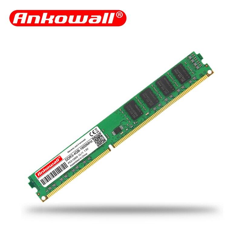 Ankowall DDR3 8GB/4GB 1600MHz/1333MHz Desktop RAM Memory 4