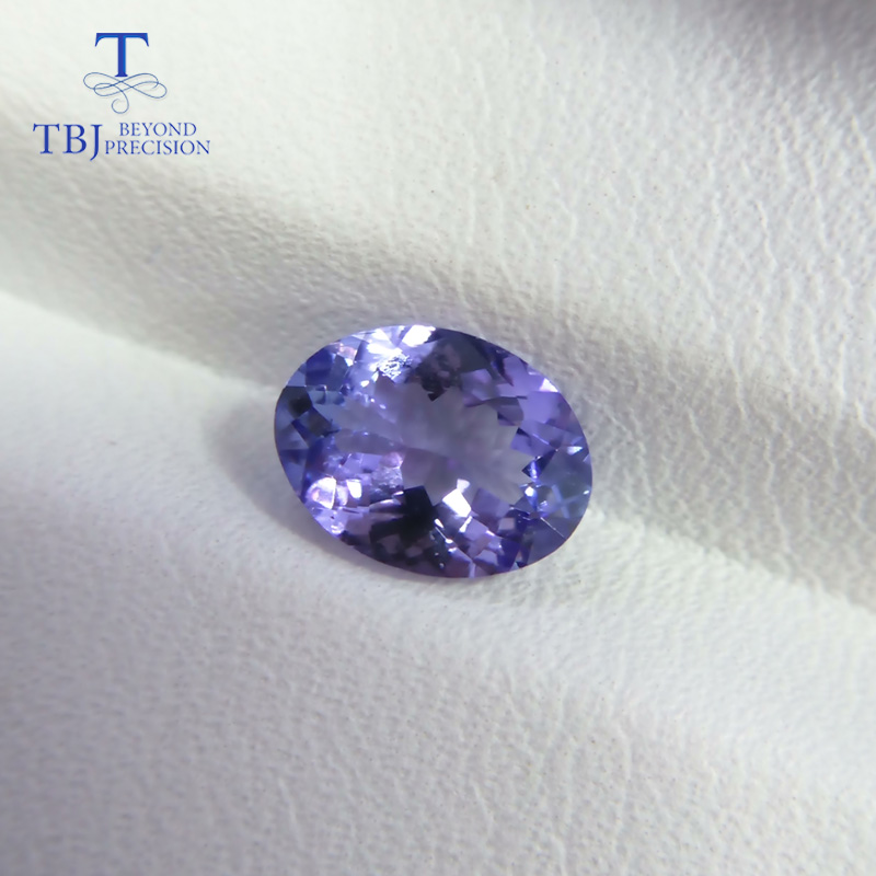 TBJ,100%natural tanzanite gemstone oval 6*8mm approx. 1.05ct loose gemstone for custom jewelry