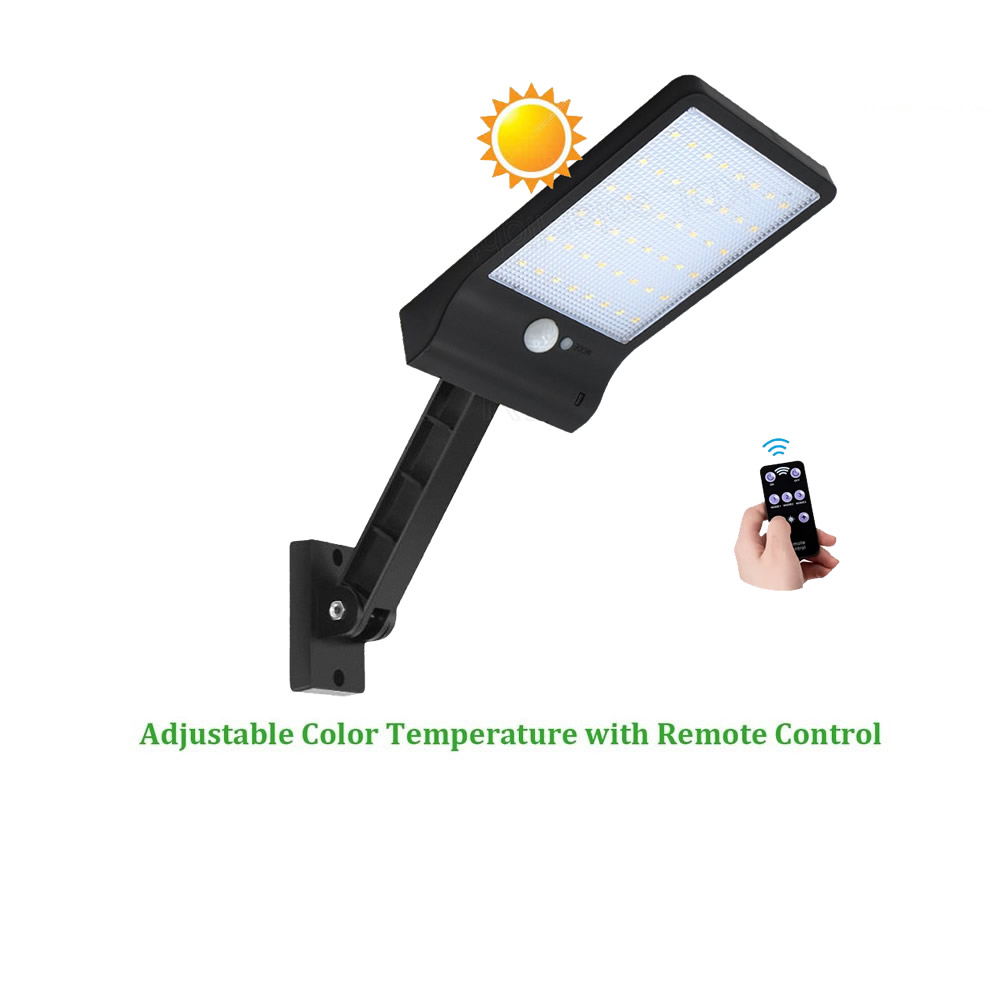 remote control solar street light Upgraded 48 LED garden wall road deck fence lamp 3 mode waterproof w/ bracket 800 lumens spotremote control solar street light Upgraded 48 LED garden wall road deck fence lamp 3 mode waterproof w/ bracket 800 lumens spot