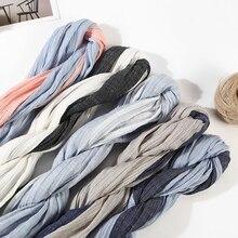 Хлопковый мужской шарф высокого качества длинный модный синий и черный полосатый шарф роскошный теплый осенний и зимний шарф мужской шарф